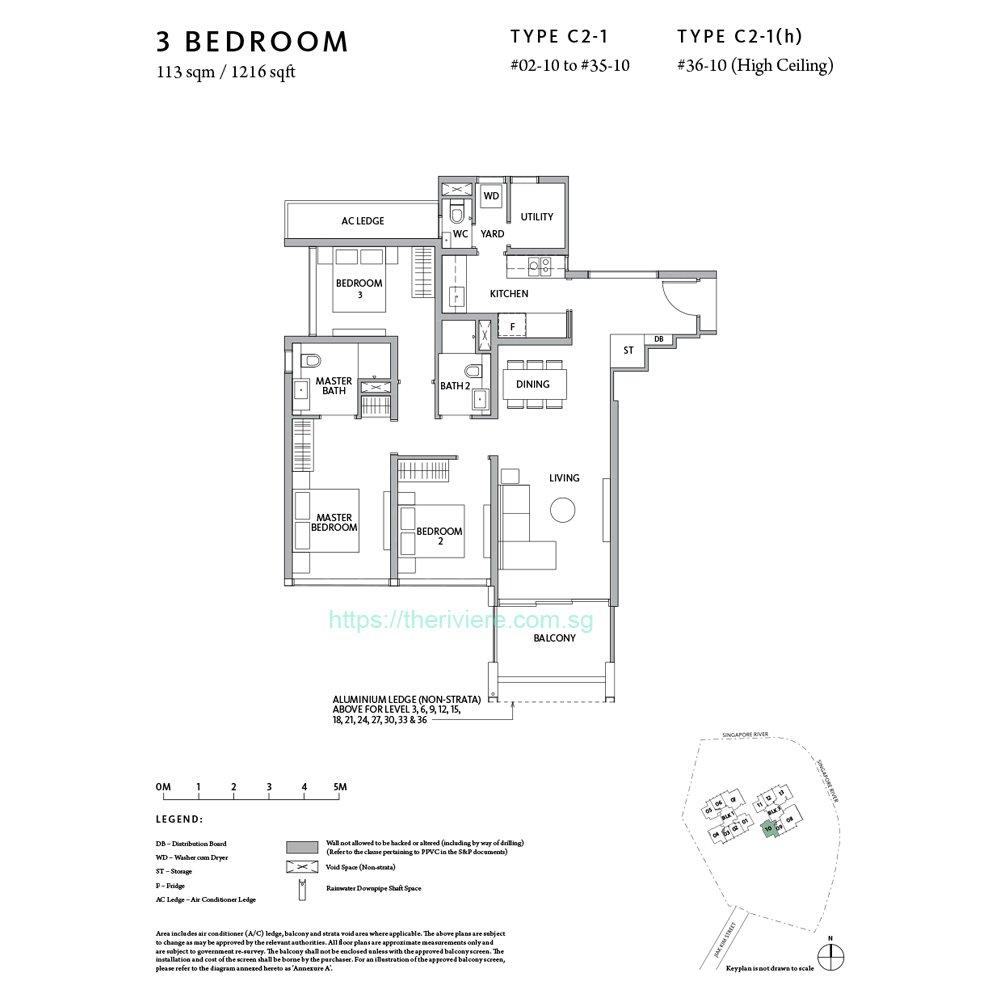 Riiere Type C2-1 3bedroom floor plan