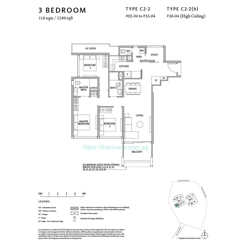 RIviere Type C2-2 3bedroom floor plan